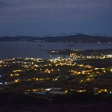 southern paros alyki aliki by night